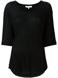 Iro Flared Shortsleeved T Shirt Black