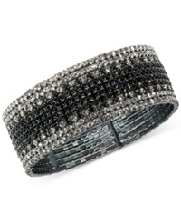 Anne Klein Crystal Pave Ombre Bracelet Gray