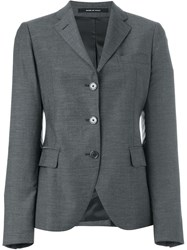 Tagliatore Fitted Blazer Grey