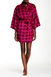 Josie Plaid Plush Robe Pink