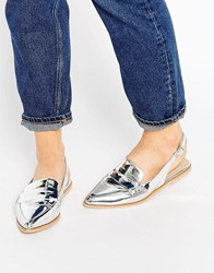 Asos Maryland Loafers Silver