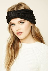 Forever 21 Glitter Knit Bow Front Headwrap