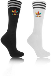 Adidas Pharrell Williams Dear Baes Set Of Two Cotton Blend Knee Socks