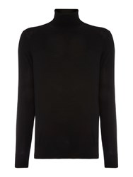 Chester Barrie Merino Roll Neck Black