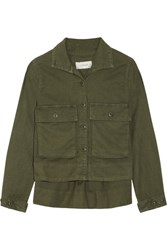 The Great Swingy Army Canvas Jacket Army Green