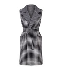 Max Mara Check Belted Gilet Female Blue