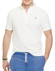 Polo Big And Tall Classic Fit Jersey V Neck White