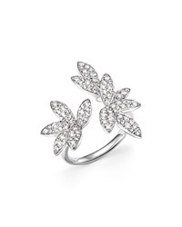 Bloomingdale's Diamond Pave Leaf Ring In 14K White Gold .85 Ct. T.W.