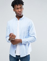 Pull And Bear Pullandbear Oxford Shirt In Light Blue In Regular Fit Sky Blue