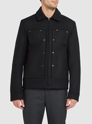 Acne Studios Black Metal Wool Jacket