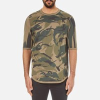 Mhi Maharishi Men's Reversible Camo Thayer T Shirt Jungle Green