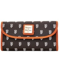 Dooney And Bourke San Francisco Giants Mlb Large Continental Clutch Black