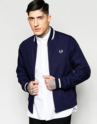 Fred Perry Laurel Wreath Bomber Jacket In Navy Made In England Navy