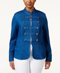 Inc International Concepts Plus Size Long Sleeve Denim Jacket Only At Macy's
