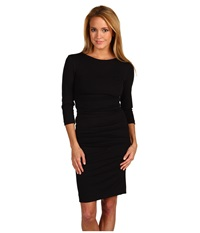 Nicole Miller Ponte Day Dress Black Women's Dress
