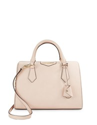 Karl Lagerfeld Saffiano Leather Satchel Blush