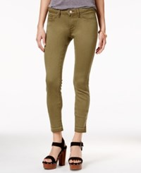 Jessica Simpson Juniors' Kiss Me Burnt Olive Wash Super Skinny Jeans Medium Green