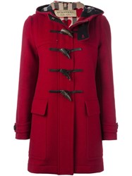 Burberry Duffle Coat Red
