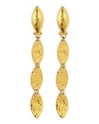Willow 24K Gold Triple Drop Earrings Gurhan