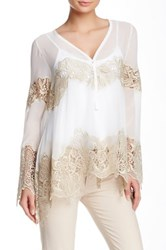 Yoana Baraschi Sanctuary Crochet Wave Blouse White