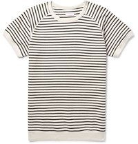 Saturdays Surf Nyc Elliot Striped Loopback Cotton Jersey Sweatshirt Black