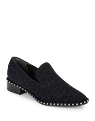 Adrianna Papell Prince Suede Studded Loafers Midnight Blue
