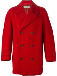 Issey Miyake Vintage Double Breasted Coat Red