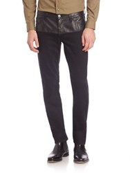 Versace Treated Straight Leg Jeans Nero