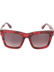 Valentino 'Rockstud' Sunglasses Red