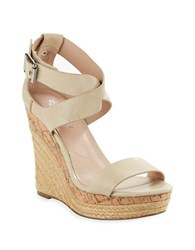 Charles By Charles David Adament Espadrille Wedges Off White