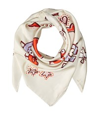 Tory Burch Peace Silk Square New Ivory