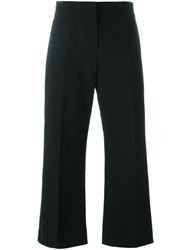 Marni Kick Flare Cropped Trousers Black