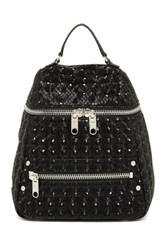 Milly Bowery Hologram Leather Backpack Black