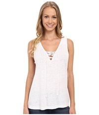 Sanctuary Serene Laced Tank Top White Women's Sleeveless