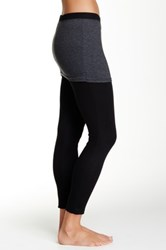 Magid Two Tone Skirt Overlay Legging Gray