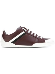 Christian Dior Homme Lace Up Sneakers Red