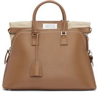 Maison Martin Margiela Brown Leather Duffle Bag