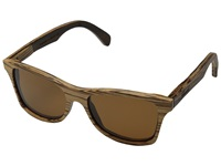 Shwood Canby Polarized Zebrawood Brown Polarized Sport Sunglasses