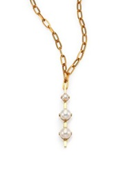 Aesa Luxor 6Mm 9Mm White Freshwater Pearl Pendant Necklace Bronze