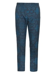 Baja East Tribal Print Silk Trousers