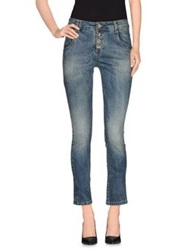 Miss Miss By Valentina Denim Pants Blue