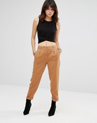 Only Sibel Cropped Trousers Tobacco Brown