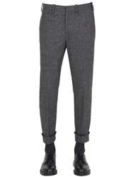 Neil Barrett Stretch Wool Prince Of Wales Pants