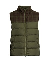 Herno Polar Tech Quilted Down Gilet Green