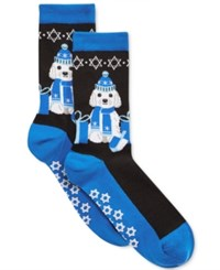 Hot Sox Women's Dreidel Dog Socks Black