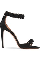 Alaia Studded Suede Sandals