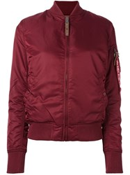 Alpha Industries Padded Bomber Jacket Red