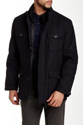 Andrew Marc New York Travis Wool Blend Jacket Gray