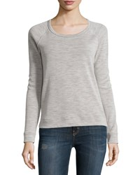 James Perse Long Sleeve Raglan Pullover Sweater Natural