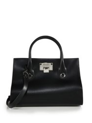 Jimmy Choo Riley Small Leather And Suede Satchel